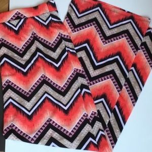 51twenty Dresses & Skirts - ➕[PLUS] ORANGE CHEVRON MAXI SKIRT