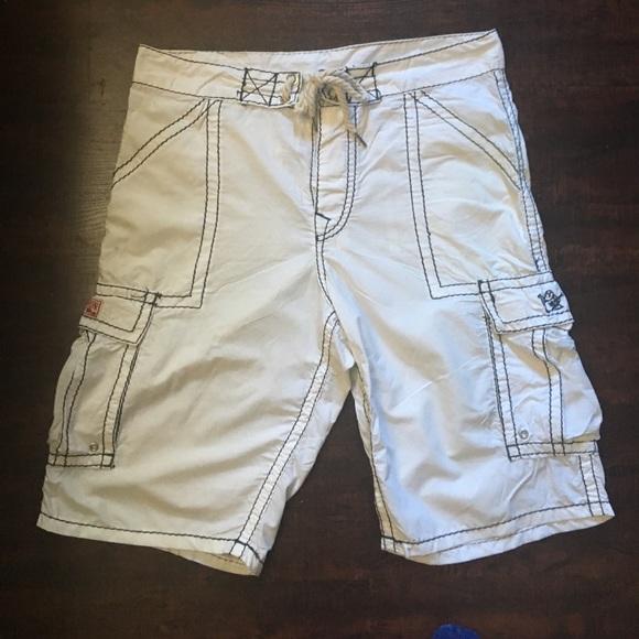 73f38f1c72 True Religion swimwear Velcro and tie board shorts.  M_5943f2fa6a58302ac2005e6a