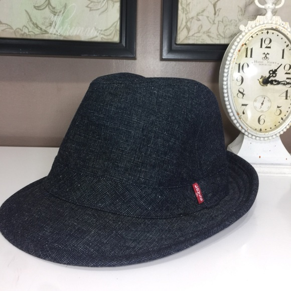 e253ea7ccd4d8 levis Other - Levi s Red Tab Denim Fedora Hat Blue Unisex