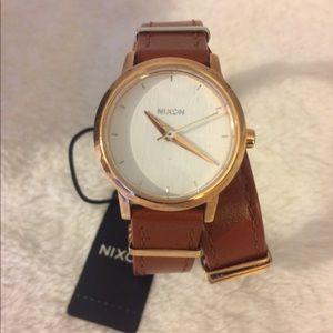 Nixon Accessories - Nixon 'Kenzi' leather wrap watch