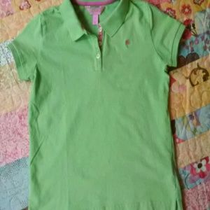 Lilly Pulitzer Other - Cute lime green Lilly Pulitzer polo.