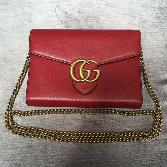 6c14b390694ebf Gucci Red Chain Wallet | Stanford Center for Opportunity Policy in ...