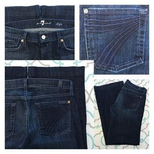 "7 For All Mankind Denim - 💙👖Gorgeous 7FAM Dojos👖💙29 7/8 31.5"" Dark Blue!"