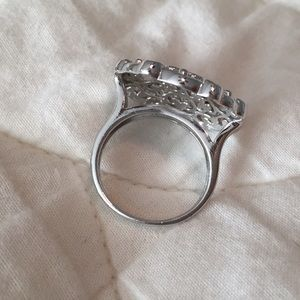 Jewelry - Sterling silver ornate scrollwork statement ring