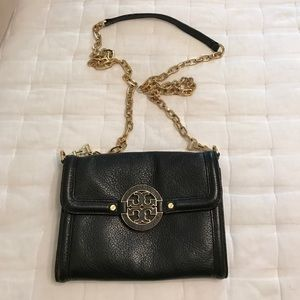 Tory Burch Bags Small Black Leather Crossbody Purse