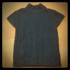 OLD NAVY Teal Cable Knit Sweater