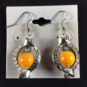 Jewelry - New Yellow and Silver Earrings