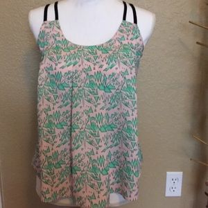 Sugarlips Tops - Green and pink design tank top