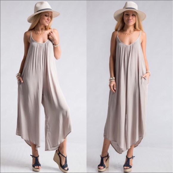 ba5d1f3a3421 Silver Loose fitting Romper also available in plum