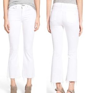 Rag & Bone High Rise Raw Hem Crop Flare Jeans, NWT
