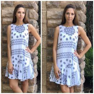 Dresses & Skirts - Boho Swing Vintage Print Dress
