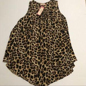 C'est La Vie Dresses - Sexy Caged Leopard Tunic/Dress w Lace-up DR-13