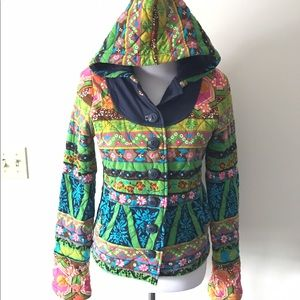 RARE Allihop Dragonboat Quilted Rainbow Jacket