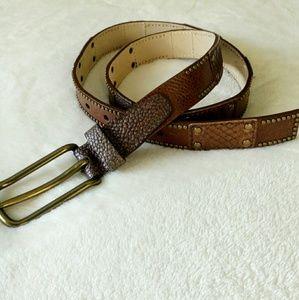 """Leather Belt 45""""x 1"""" Cynthia Rowley"""