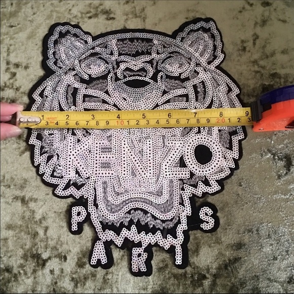 294a7eeead5 Kenzo jumbo tiger sew on iron on sequin patch