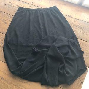 Lush Long Sheer Skirt with Mini Skirt Liner