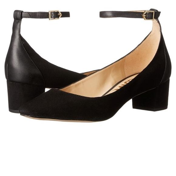 4ea24475c9f37 Sam Edelman Lola ankle strap low heel pumps. M 59440b3b522b456b1a033654