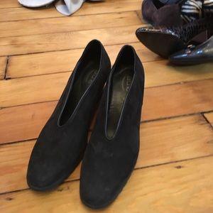 Arche Shoes - Arche black nuback wedge shoes