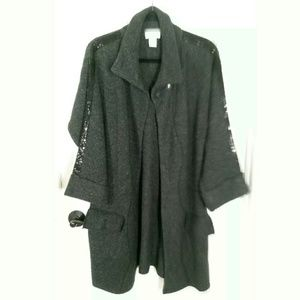 Soft Surroundings Chunky Cable Cardigan Sweater S