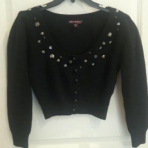Betsey Johnson star sweater in black sz L