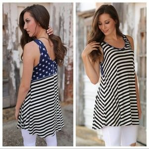 Infinity Raine Dresses & Skirts - *1 left!*order soon! Stars and stripes tunic dress