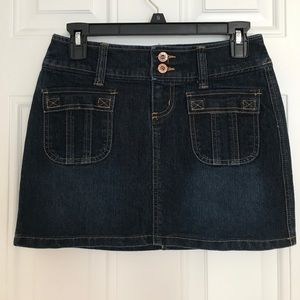 Glo Jean skirt with pockets