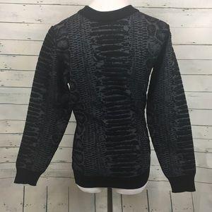 Lanvin Other - Lanvin river black wool blnd raised detail sweater