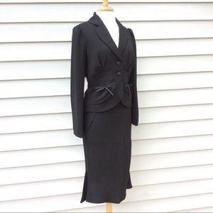 103fa67ca76936 Jonathan Martin Dresses | Flirty Black Skirt Suit Like New Cond ...