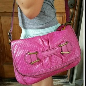 Jessica Simpson crossbody handbag pink purse EUC