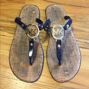 KORS Michael Kors Shoes - Micheal Kors navy blue flip flops