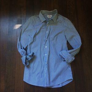 J. Crew Stretch Perfect Fit Shirt Classic Stripe