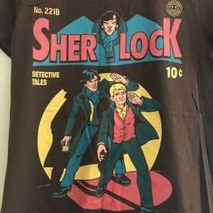 Redbubble Tops - ✨Exclusive ✨ Sherlock Holmes 🔍 Comic Book Tee
