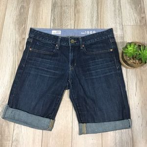 Gap Bermuda Jean Shorts Size 6