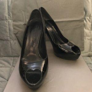 Alexander McQueen Shoes - Authentic Alexander McQueen Patent Lthr Peep Toe