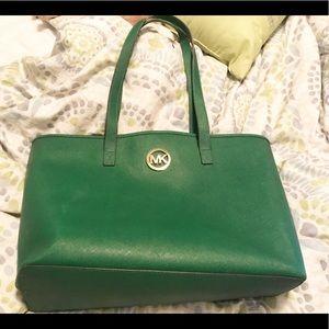 6b12641b962f Michael Kors Bags - 💚 Michael Kors Green Tote Bag 💚 MK gold logo