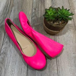 J.Crew Factory Shoes - J.Crew Hot Pink Cece Ballet Flats