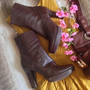 Marc Fisher Shoes - Marc Fisher Chocolate Brown Heeled Ankle Booties