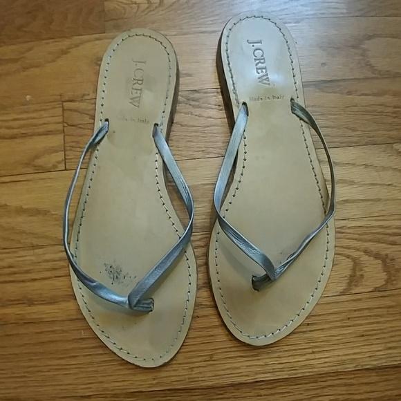 fd5009646cc27 J. Crew Shoes - J. Crew Rio metallic silver flip flops