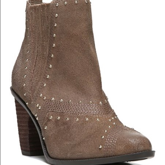 53% off Fergie Shoes - Brand new Taupe Suede Studded Dina ... Fergie Shoes