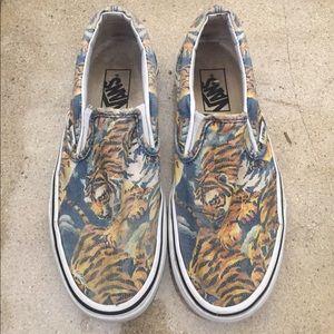 Kenzo Shoes - VANS X KENZO Tiger Print Classic Slip Ons