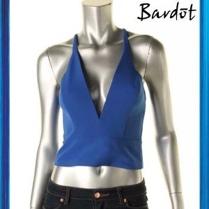 Bardot Tops - BARDOT Beautiful Blue Halter Top