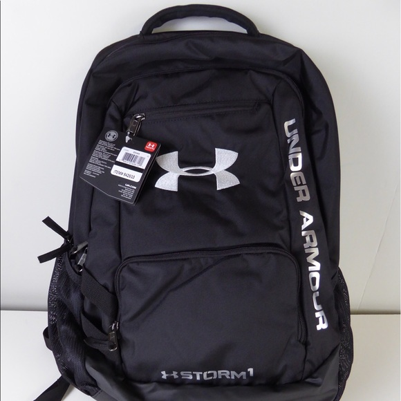 Under Armour Bags   Hustle 2 Storm 1 Backpack Nwt Black   Poshmark ad403fca75