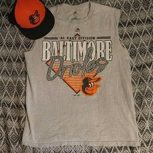 Majestic Other - Baltimore Orioles sleeveless tee L