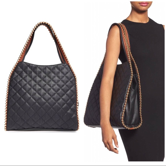 Big Buddha Handbags - LAST♦️BIG BUDDHA BLACK VEGAN QUILTED SHOULDER TOTE