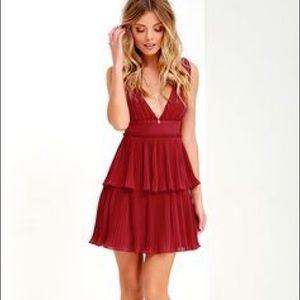 Lulu's Dresses & Skirts - Lulus maroon cocktail dress ✨✨