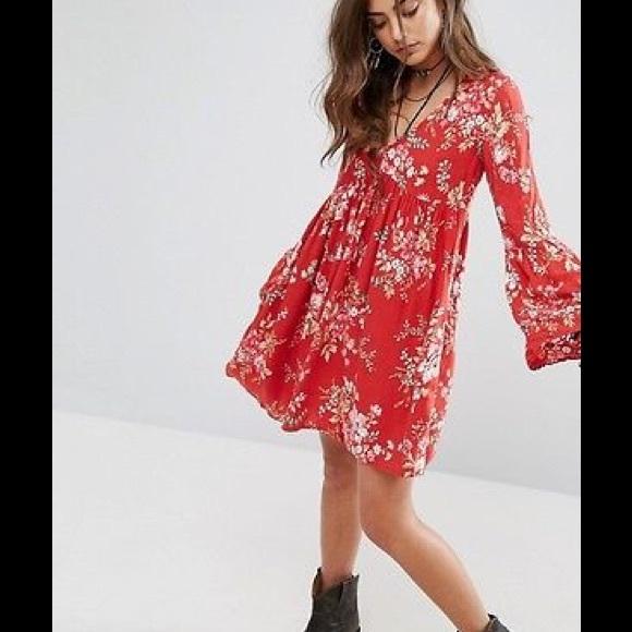 89b974077fc ❣FINAL SALE❣Denim Supply Red Floral Mini Dress