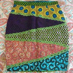 Dresses & Skirts - African Kente Wakanda Skirt 💚💛💙💜💝