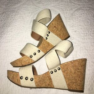 Lucky Brand Shoes - Lucky Brand Marinah wedges 6.5