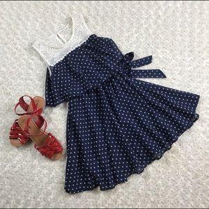 Lilt Size 12 Girls Kid Navy Blue  Summer Dress