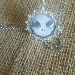 Jack Skellington Moon Necklace